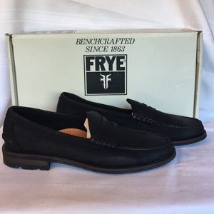 NEW! Frye Adam Penny loafers in black
